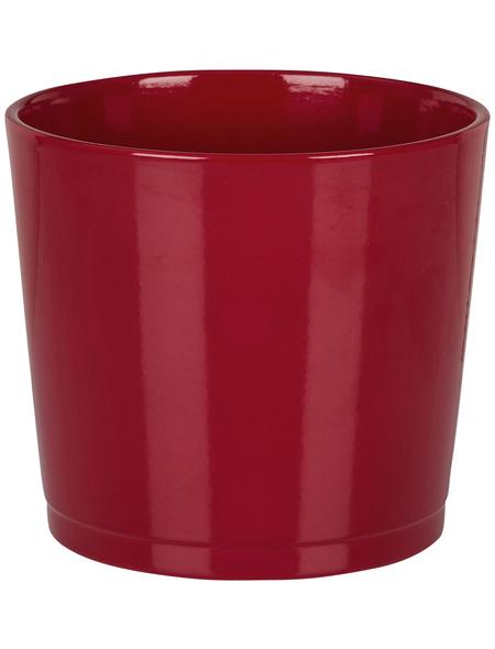 SCHEURICH Übertopf, ØxH: 22 x 19,7 cm, rot, Keramik