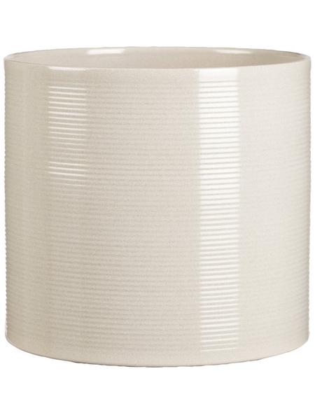 SCHEURICH Übertopf, ØxH: 23 x 21 cm, beige/taupe, Keramik