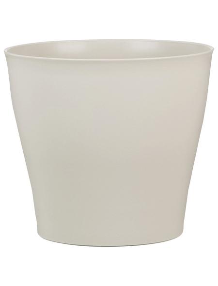 SCHEURICH Übertopf »PURE«, ØxH: 12,5 x 11,2 cm, beige, Kunststoff
