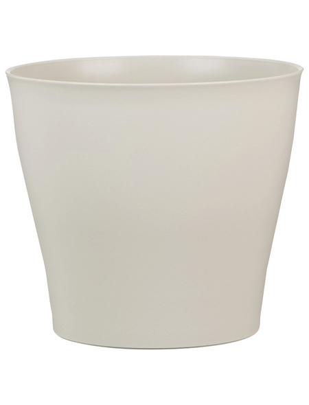 SCHEURICH Übertopf »PURE«, ØxH: 16,5 x 15 cm, beige, Kunststoff