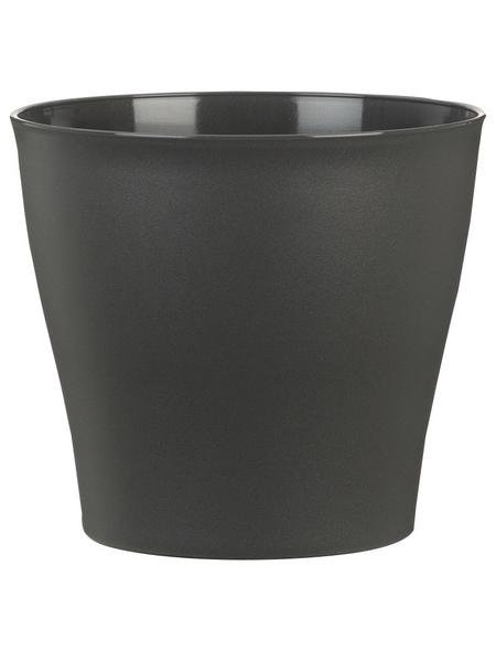 SCHEURICH Übertopf »PURE«, ØxH: 18,5 x 16,8 cm, grau, Kunststoff