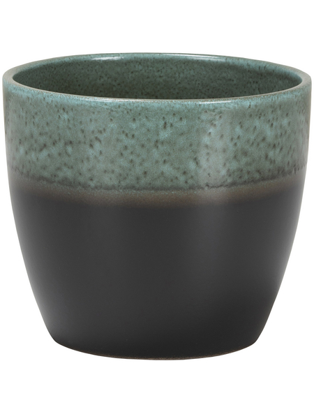 SCHEURICH Übertopf »SHADES«, ØxH: 13 x 11,5 cm, grün/anthrazit, Keramik