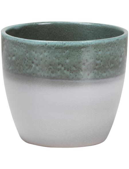 SCHEURICH Übertopf »SHADES«, ØxH: 13 x 11,5 cm, weiß/grün, Keramik