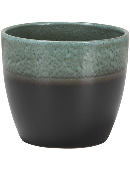 SCHEURICH Übertopf »SHADES«, ØxH: 14 x 12,1 cm, grün/anthrazit, Keramik