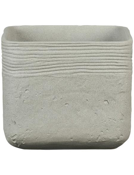 SCHEURICH Übertopf »SOLID«, BxH: 14,5 x 12,8 cm, grau, Keramik