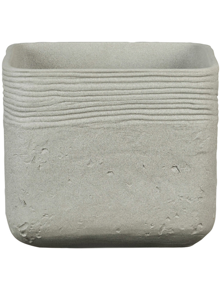 SCHEURICH Übertopf »SOLID«, BxH: 18,5 x 16,1 cm, grau, Keramik