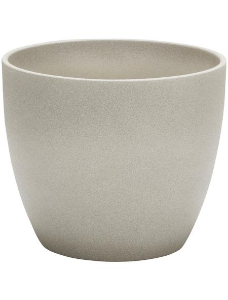 SCHEURICH Übertopf »STONE«, ØxH: 28 x 25,2 cm, taupe, Keramik