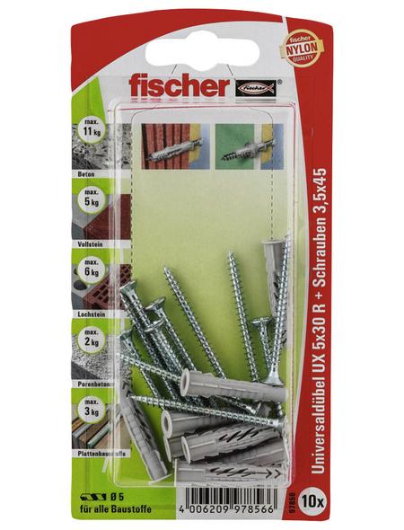 FISCHER Universaldübel, 10 Stück, 5 x 30 mm