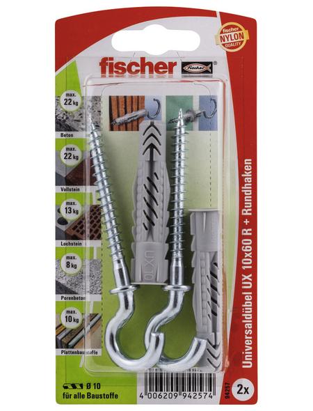FISCHER Universaldübel, 2 Stück, 10 x 60 mm