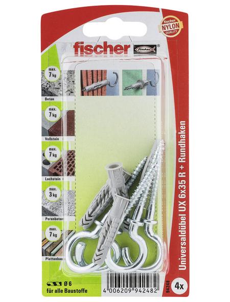 FISCHER Universaldübel, 4 Stück, 6 x 35 mm