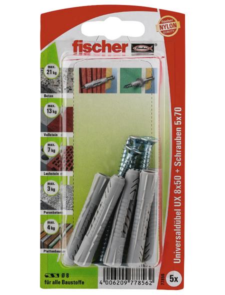 FISCHER Universaldübel, 5 Stück, 8 x 50 mm
