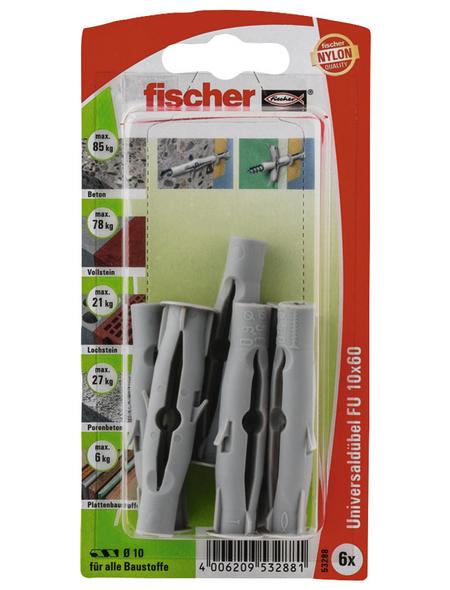 FISCHER Universaldübel, 6 Stück, 10 x 60 mm
