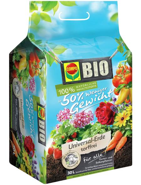 COMPO Universalerde »COMPO BIO «, für Grün- und Blühpflanzen, torffrei