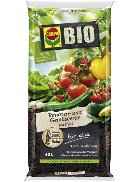 COMPO Universalerde »COMPO BIO«, für Tomaten & Gemüse, torffrei
