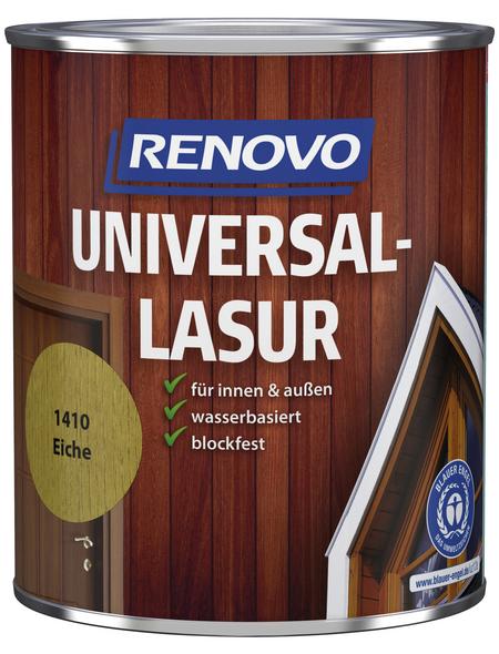 RENOVO Universallasur, für innen & außen, 0,75 l, Eiche, seidenglänzend