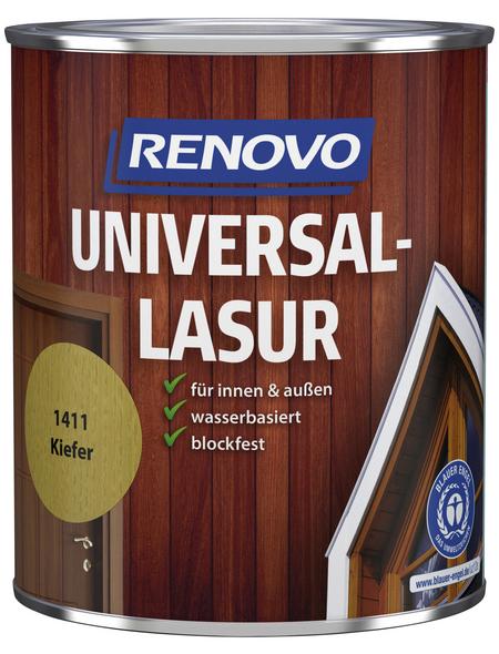 RENOVO Universallasur, für innen & außen, 0,75 l, Kiefer, seidenglänzend