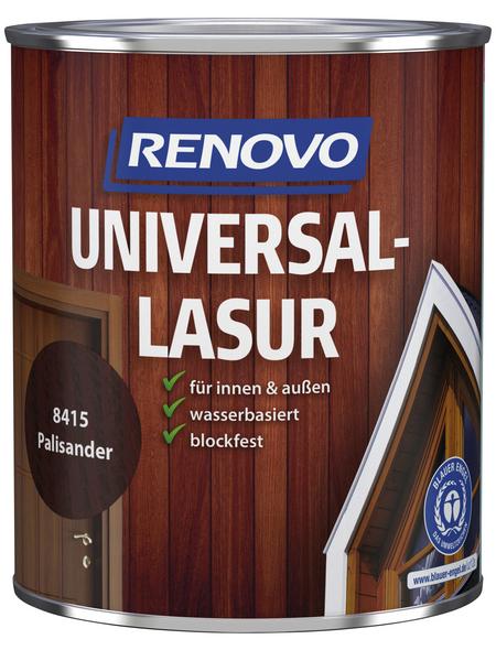 RENOVO Universallasur, für innen & außen, 0,75 l, Palisander, seidenglänzend