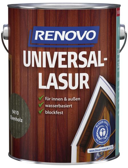 RENOVO Universallasur, für innen & außen, 2,5 l, Ebenholz, seidenglänzend