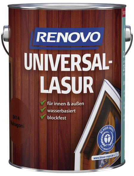 RENOVO Universallasur, für innen & außen, 2,5 l, Mahagoni, seidenglänzend
