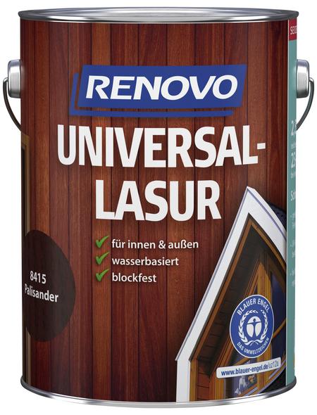 RENOVO Universallasur, für innen & außen, 2,5 l, Palisander, seidenglänzend