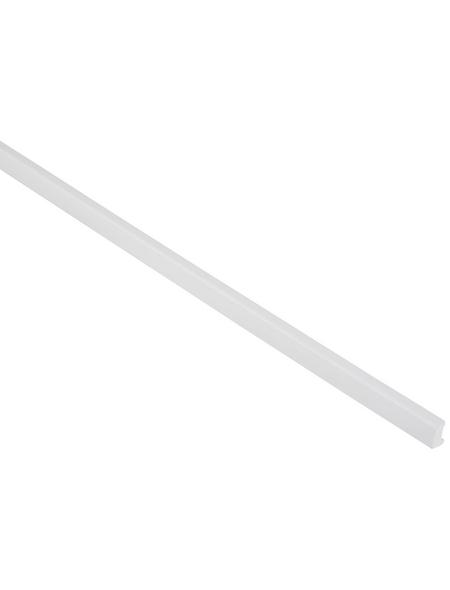 FN NEUHOFER HOLZ Universalleiste, Uni weiß, Kunststoff, LxHxT: 240 x 1,6 x 1 cm
