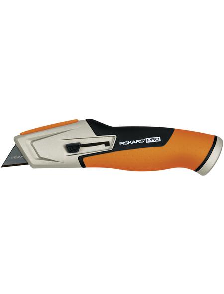 FISKARS Universalmesser mit einziehbarer Klinge, CarbonMax, CarbonMax, Schwarz | Orange, Kunststoff | Stahl