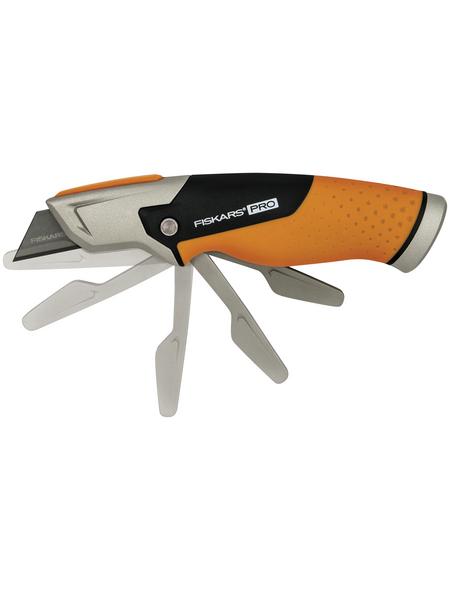 FISKARS Universalmesser mit feststehender Klinge, CarbonMax, CarbonMax, Schwarz | Orange