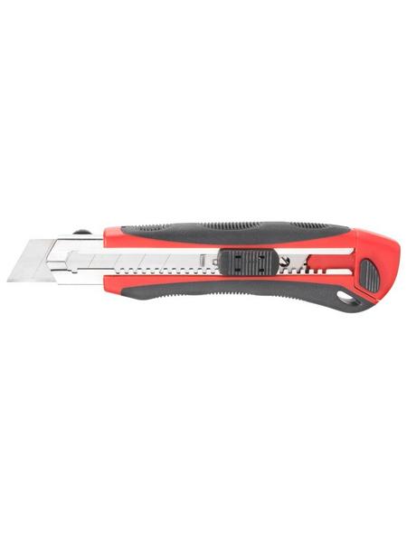 CONNEX Universalmesser, rot/schwarz/silberfarben, Stahl