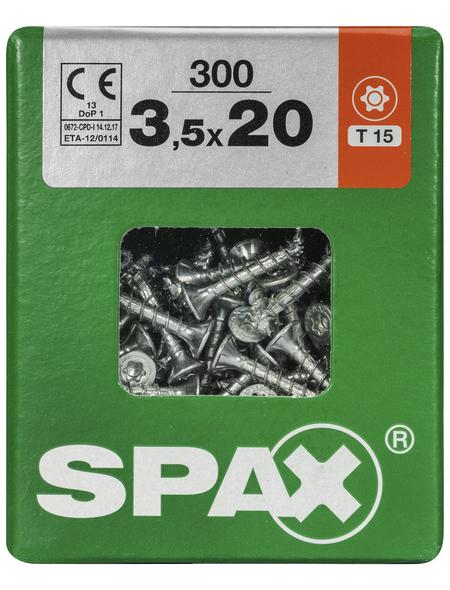 SPAX Universalschraube, 3,5 mm, Stahl, 300 Stk., TRX 3,5x20 L