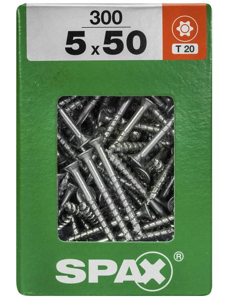 SPAX Universalschraube, 5 mm, Stahl, 300 Stk., TRX 5x50 XXL