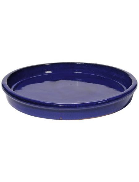 Kirschke Untersetzer »TerraDura glasiert«, blau, Steinzeug, rund