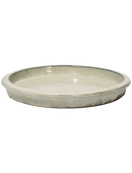 Kirschke Untersetzer »TerraDura glasiert«, creme, Steinzeug, rund