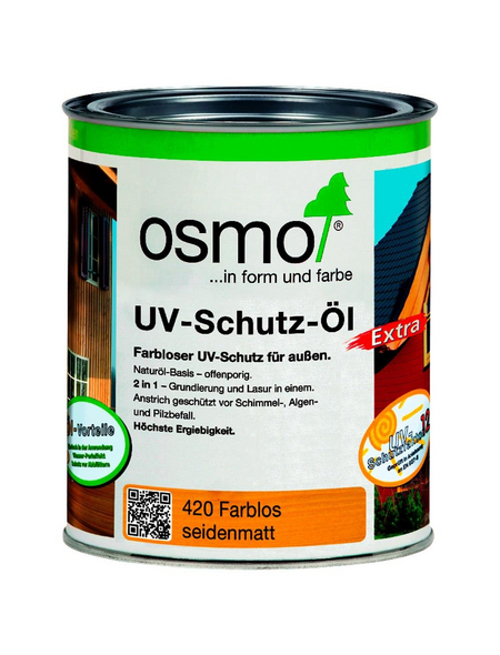 OSMO UV-Schutzöl »Extra«, für außen, 0,75 l, farblos, seidenmatt
