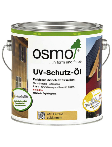 OSMO UV-Schutzöl, für außen, 2,5 l, farblos, seidenmatt