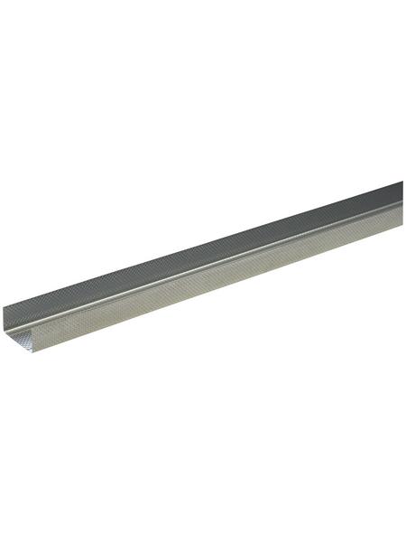 UW-DB Rahmenprofil, LxBxH: 2000 x 75 x 40 mm, Stahl