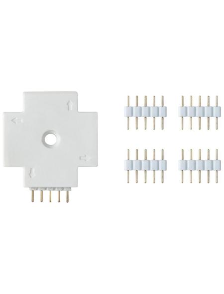 PAULMANN Verbindungselement »MaxLED«, X-Connector, Kunststoff, weiß