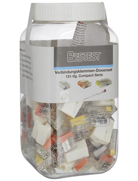 BESTEST Verbindungsklemmen-Dosenset, Kunststoff, Transparent/Gelb/Orange, Elektrische Leiter