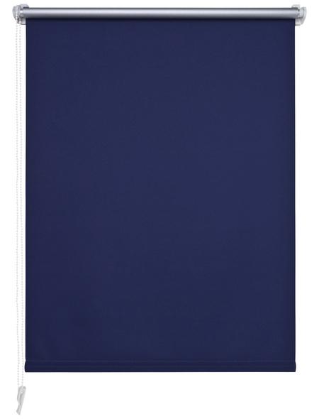 LIEDECO Verdunkelungsrollo, blau, Klemmfix, Polyester