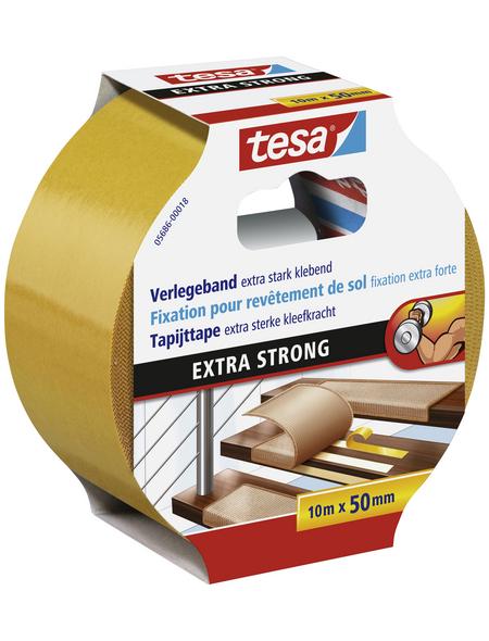 TESA Verlegeband, braun, Breite: 5 cm, Länge: 10 m