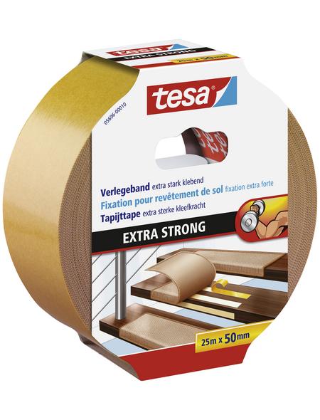 TESA Verlegeband, braun, Breite: 5 cm, Länge: 25 m
