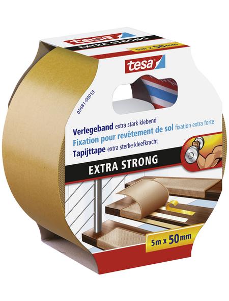 TESA Verlegeband, braun, Breite: 5 cm, Länge: 5 m