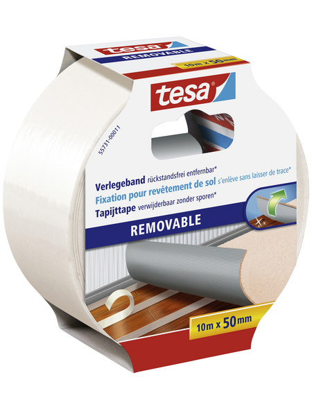 TESA Verlegeband, transparent, Breite: 5 cm, Länge: 10 m