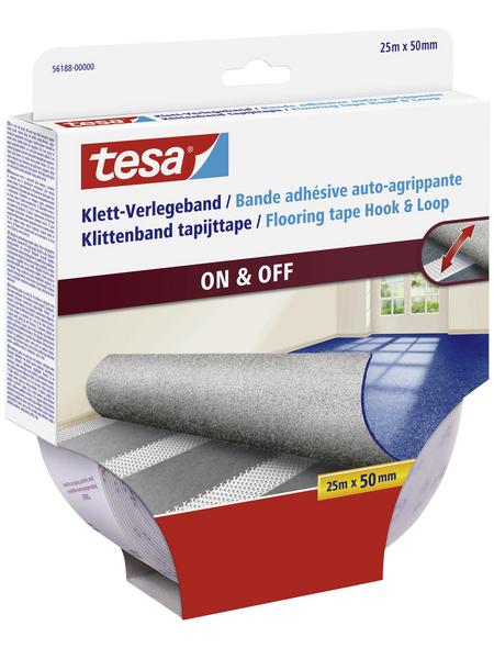 TESA Verlegeband, transparent, Breite: 5 cm, Länge: 25 m