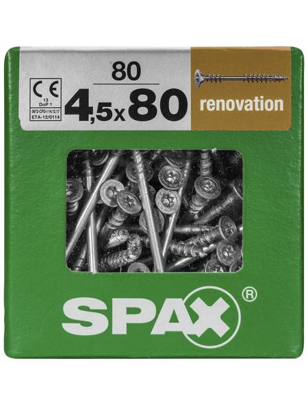 SPAX Verlegeschraube, 4,5 mm, Stahl, 80 Stk., Renovation 4,5x80 XXL