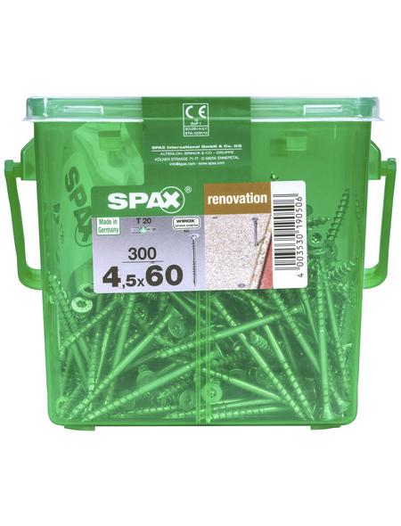 SPAX Verlegeschraube, T-STAR plus, 300 Stk., 4,5 x 60 mm