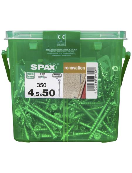 SPAX Verlegeschraube, T20, Stahl, 350 Stück, 4.5 x 50 mm