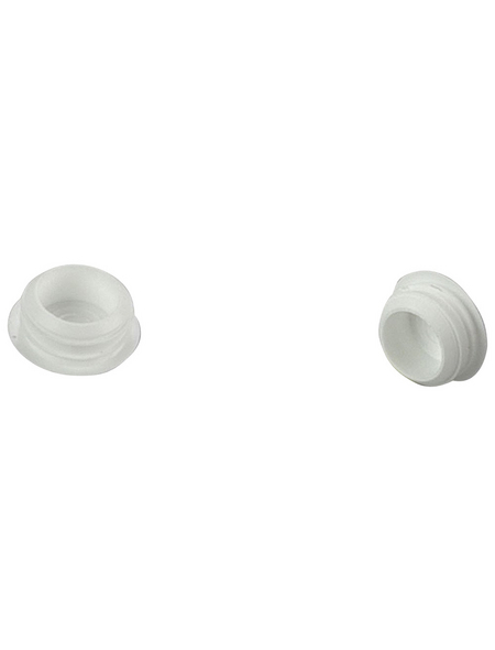 LIEDECO Verschlussstopfen, Kappe, 8 mm, 6 Stück, Weiß