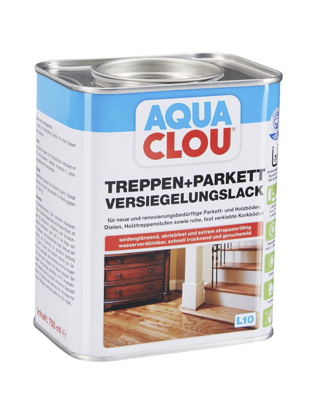 CLOU Versiegelungslack »AQUA«, für innen, 0,75 l, farblos, seidenglänzend