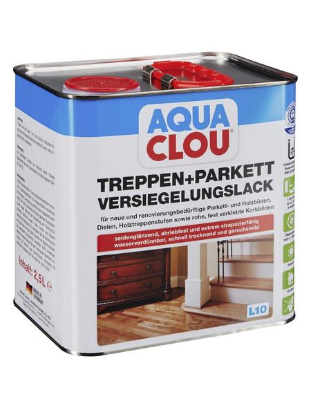 CLOU Versiegelungslack »AQUA«, für innen, 2,5 l, farblos, seidenglänzend