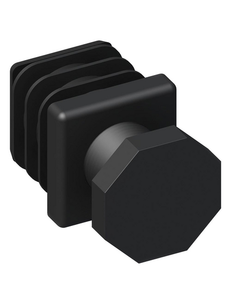 alfer® aluminium Verstellfuß, BxHxT: 23.5 x 50 x 50 mm, schwarz